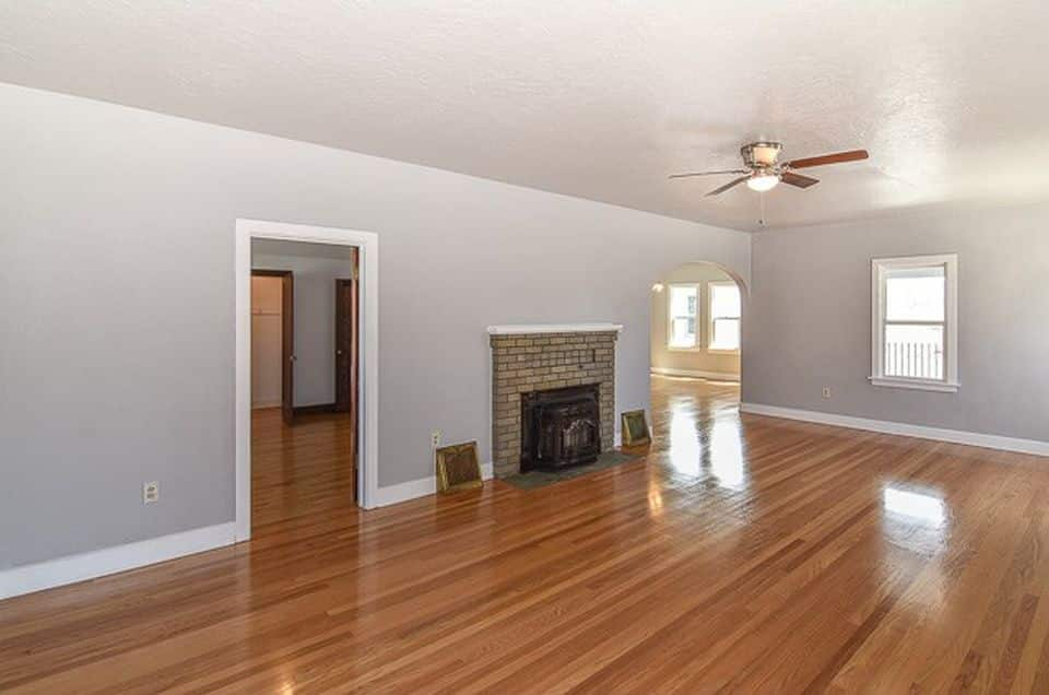 living room of a remodeled property